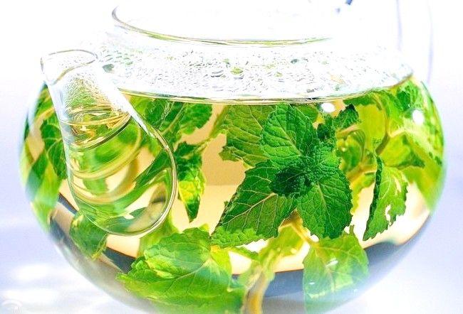 Трав`яний відвар в скляному чайнику
