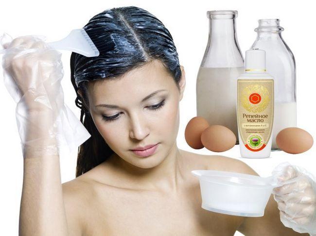 Маска для волосся з яйцем, кефіром і реп`яхову олію