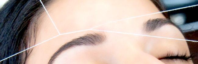 Метод корекції брів ниткою