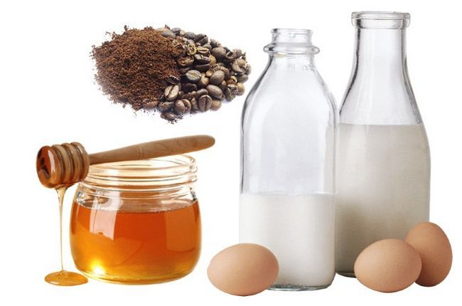 Кава, яйце, молоко і мед