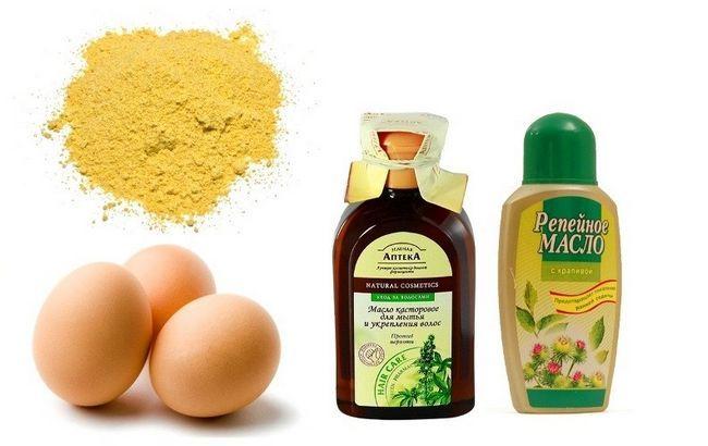 Рицинова, реп`яхову олію, яйця і гірчиця