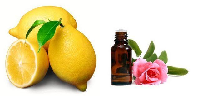 Лимон і ефірне масло троянди