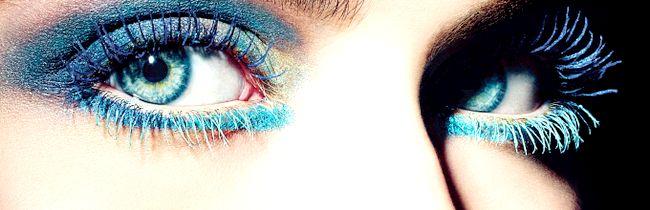 Огляд туші для вій з відтінками: синій, зелений, фіолетовий і сірий