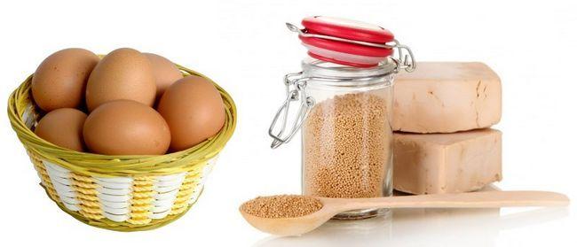 Дріжджі в баночці і яйця в кошику