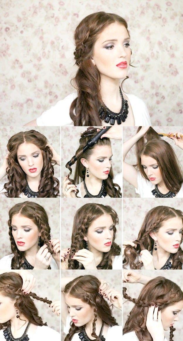 Зачіски на довге волосся з косами фото